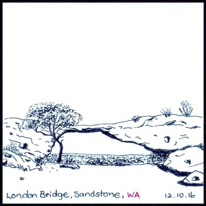 London Bridge, WA - #Inktober2016