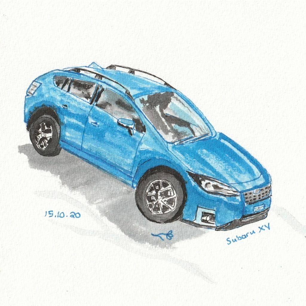 Test drive Subaru XV #Inktober 2020 Day 15 Helen Lock