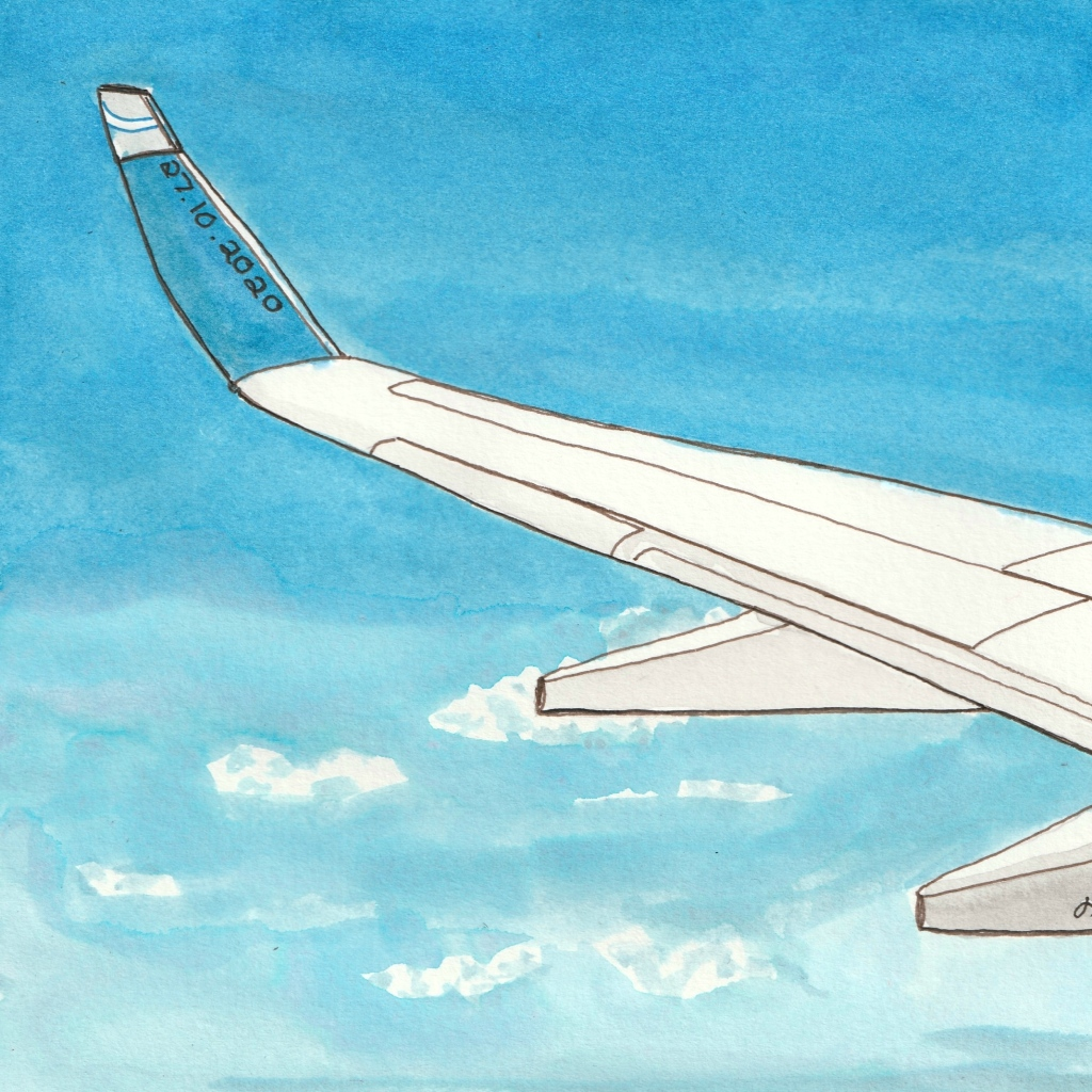 Space is blue and birds fly through it. #Inktober2020 Day 27 - Helen Lock - Western Australian artist